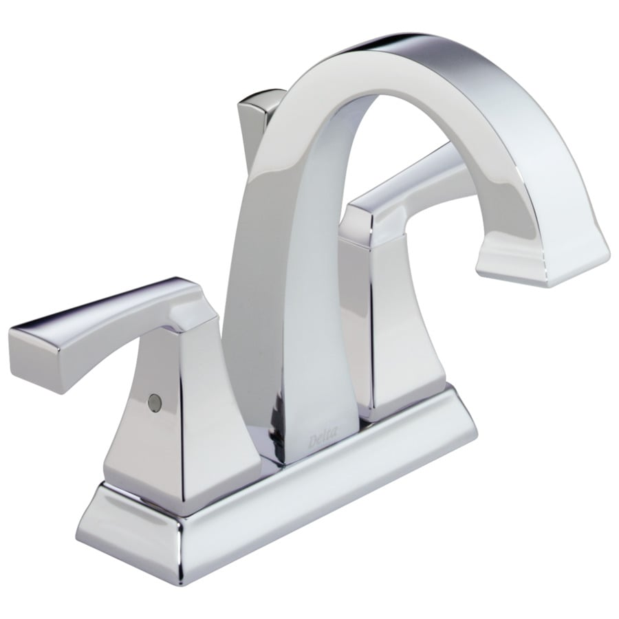Shop Delta Dryden Chrome 2 Handle 4 In Centerset Watersense Bathroom Faucet Drain Included At