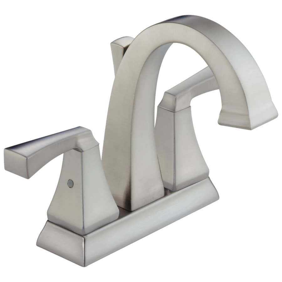 Shop Delta Dryden Stainless 2 Handle 4 In Centerset Watersense Bathroom Faucet Drain Included