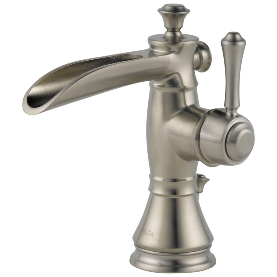 Delta Cassidy Stainless 1-Handle Single Hole Bathroom Sink Faucet