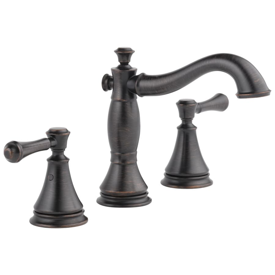 Delta Cassidy Venetian Bronze 2-Handle Widespread WaterSense Bathroom Sink Faucet with Drain