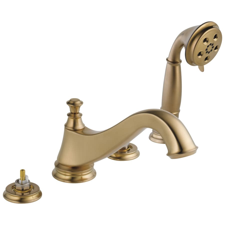 Delta Cassidy Champagne Bronze 2-Handle Adjustable Deck Mount Bathtub Faucet