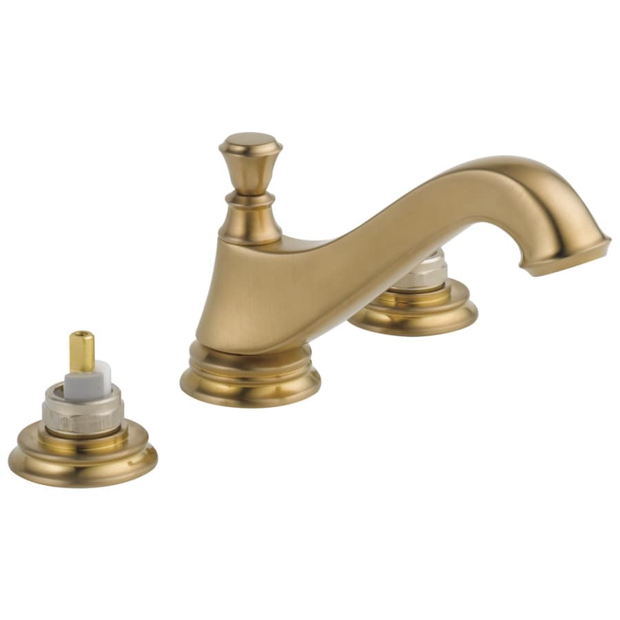 Delta Cassidy Champagne Bronze 2-Handle Widespread WaterSense Bathroom Faucet (Drain Included)