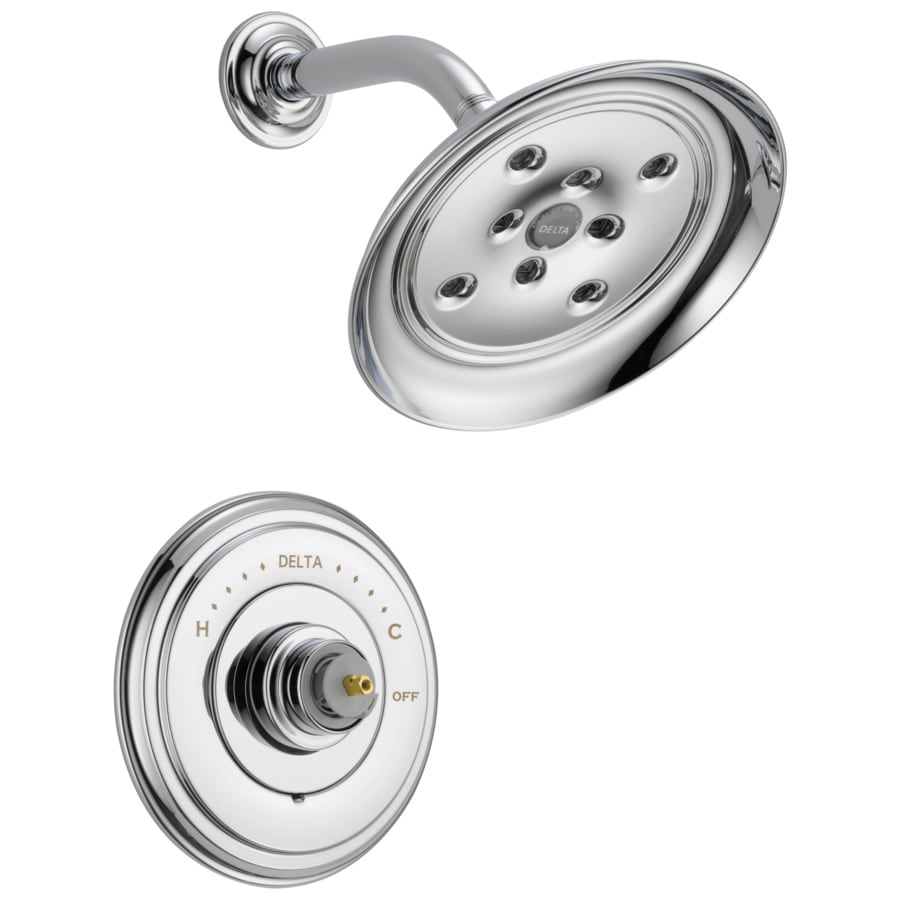 Delta Cassidy Chrome 1-Handle WaterSense Shower Faucet Trim Kit with Rain Showerhead