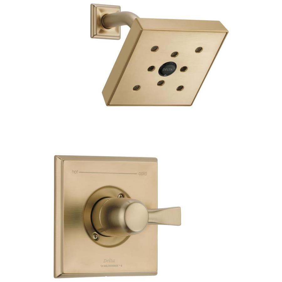 Delta Dryden Champagne Bronze 1-Handle WaterSense Shower Faucet Trim Kit with Single Function Showerhead