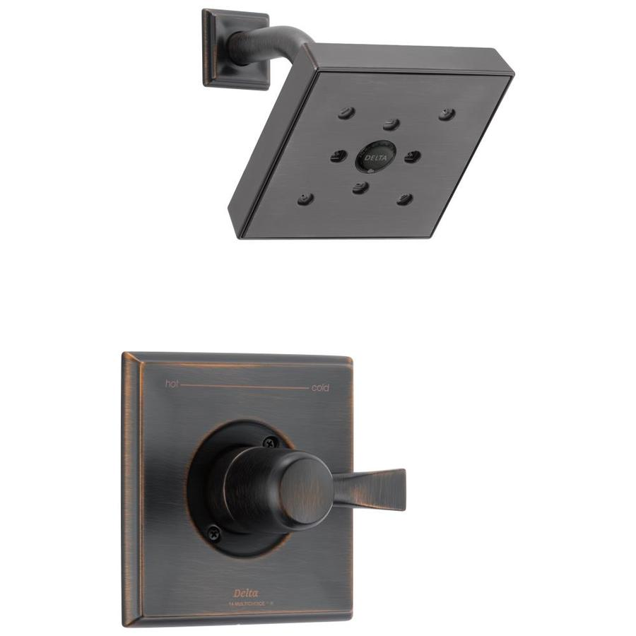 Delta Dryden Venetian Bronze 1-Handle WaterSense Shower Faucet Trim Kit with Single Function Showerhead