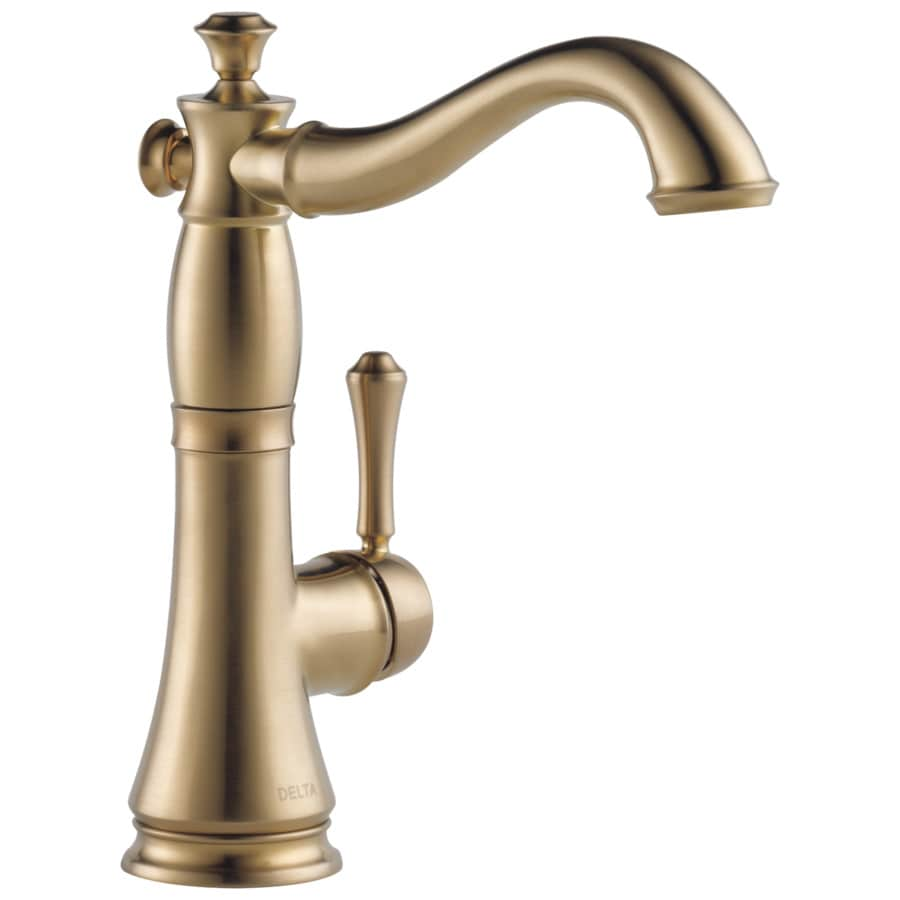 Delta Cassidy Champagne Bronze 1-Handle Bar and Prep Faucet