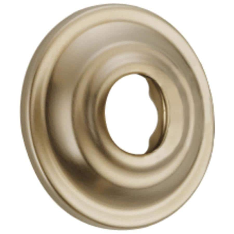 Delta 2.38-in Polished Brass Shallow Flange