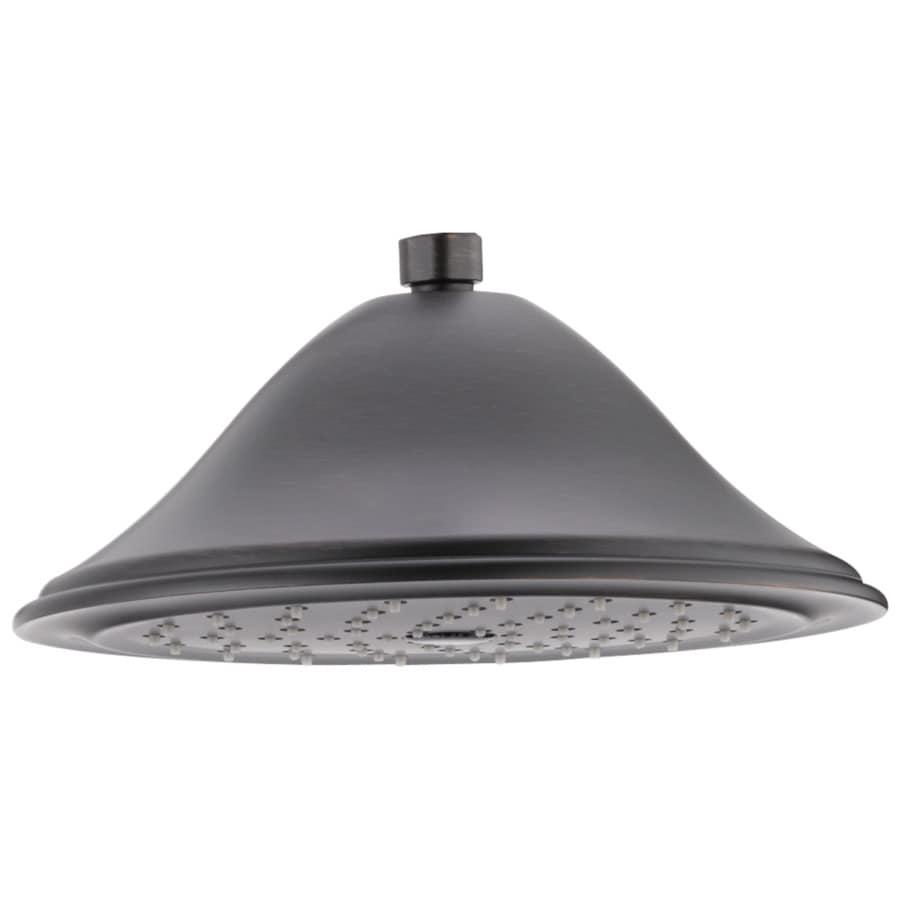 Delta Cassidy 9.375-in 2.5-GPM (9.5-LPM) Venetian Bronze 1-Spray Rain Showerhead