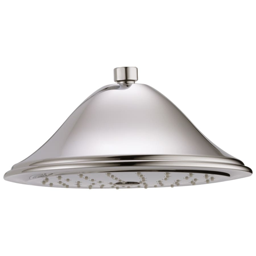 Delta Cassidy 9.375-in 2.5-GPM (9.5-LPM) Polished Nickel 1-Spray Rain Showerhead