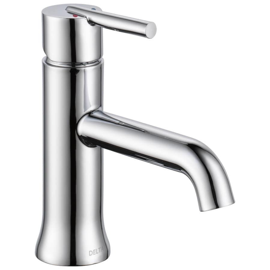 Delta Trinsic Chrome 1-Handle Single Hole/4-in Centerset WaterSense Bathroom Faucet
