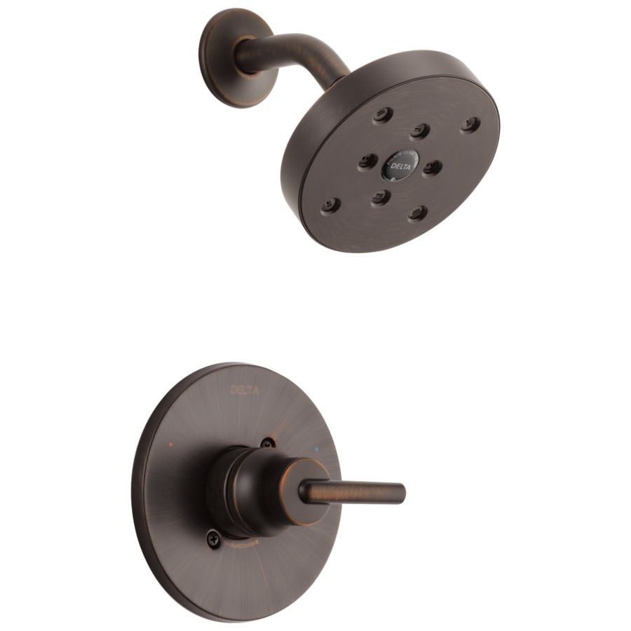 Delta Trinsic Venetian Bronze 1-Handle WaterSense Shower Faucet Trim Kit with Single Function Showerhead