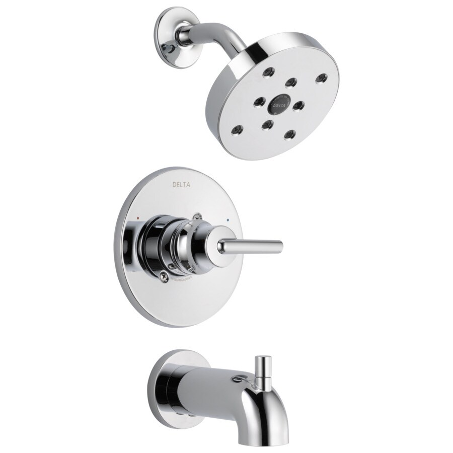 Bathroom Shower Knobs: Shop Delta Trinsic Chrome 1-handle Bathtub And Shower