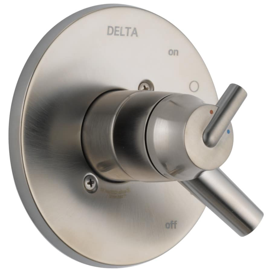 Delta Trinsic Stainless 1-Handle Shower Faucet Trim Kit with Sold Separately Showerhead