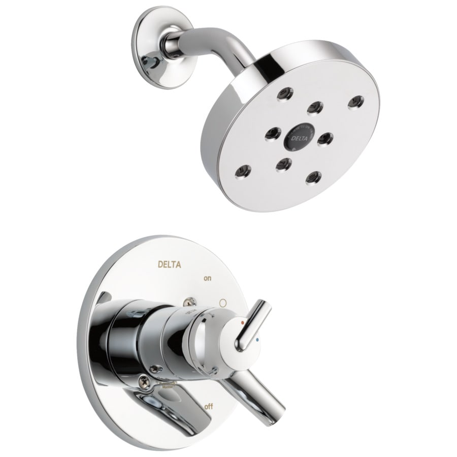 delta trinsic chrome 1 handle watersense shower faucet trim kit with