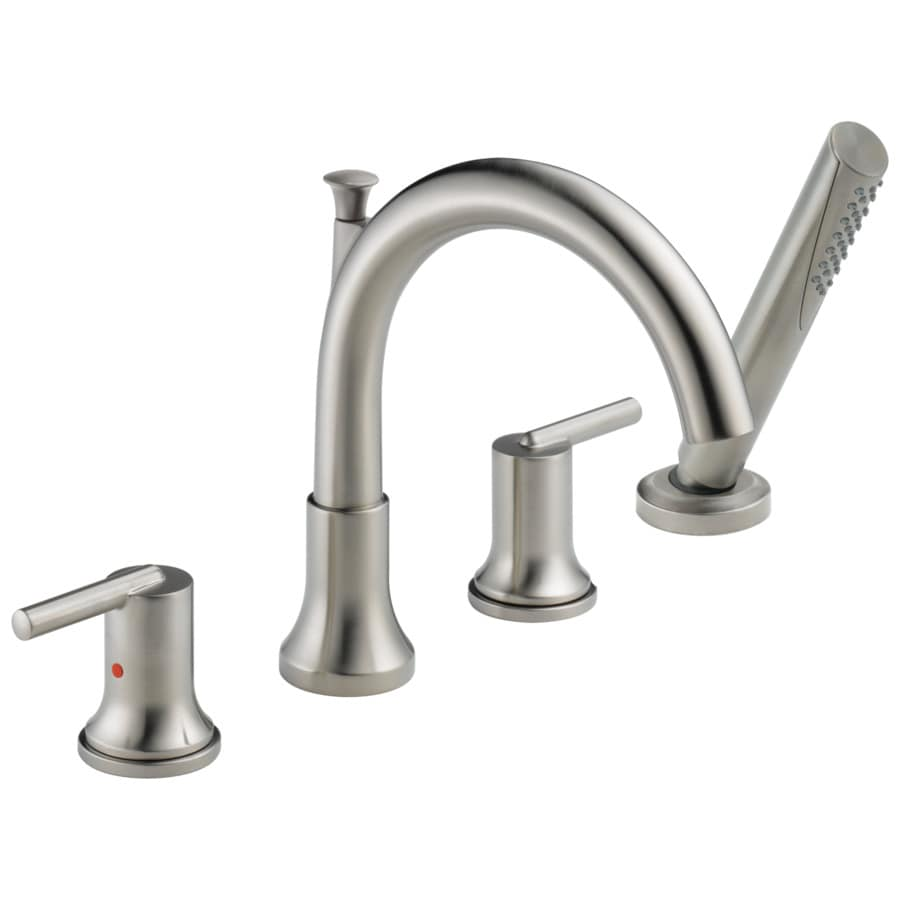 Delta Trinsic Stainless 2-Handle Adjustable Deck Mount Bathtub Faucet