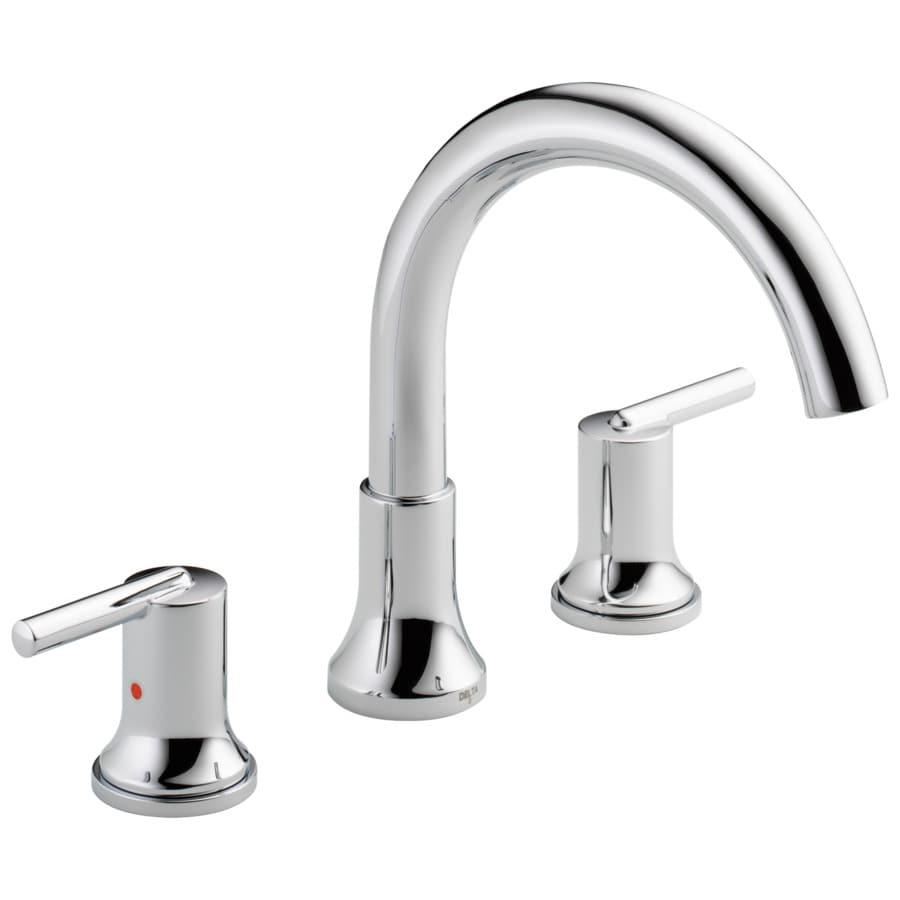 Delta Trinsic Chrome 2-Handle Adjustable Deck Mount Bathtub Faucet