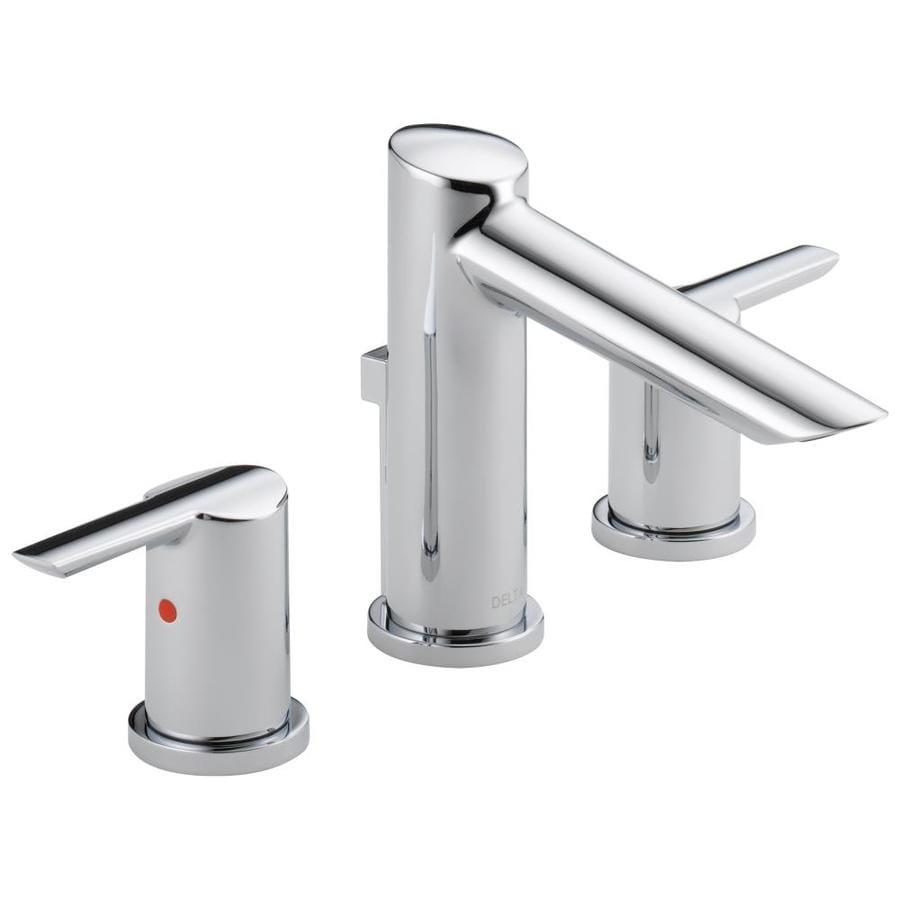Delta compel chrome 2 handle widespread watersense - Delta widespread bathroom faucets ...
