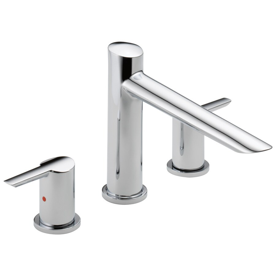 Delta Compel Chrome 2-Handle Adjustable Deck Mount Bathtub Faucet