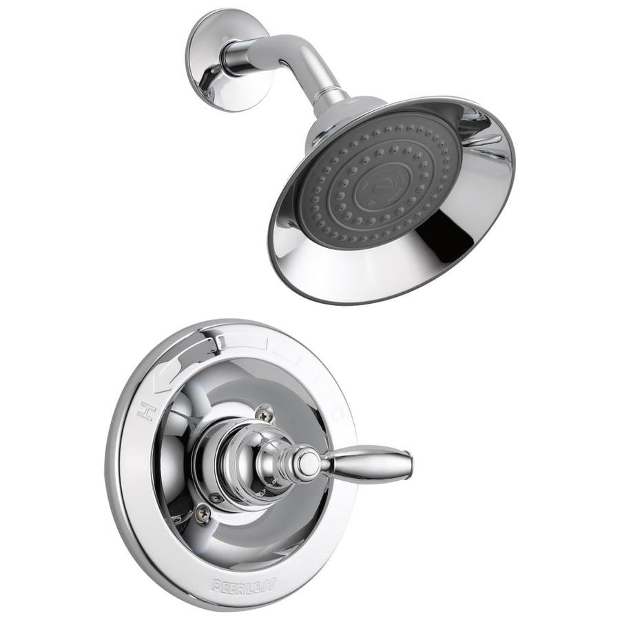 Peerless Apex Chrome 1-Handle WaterSense Shower Faucet Trim Kit with Single Function Showerhead