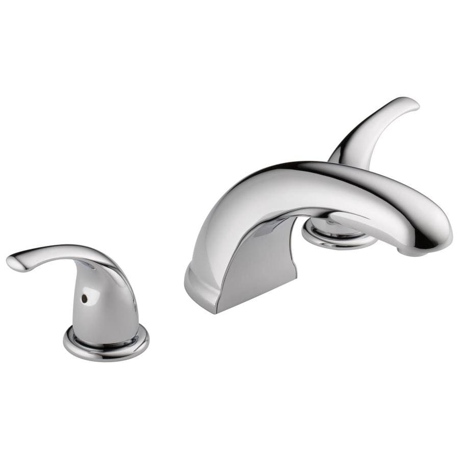 Shop Peerless Choice Chrome 2 Handle Deck Mount Bathtub Faucet At