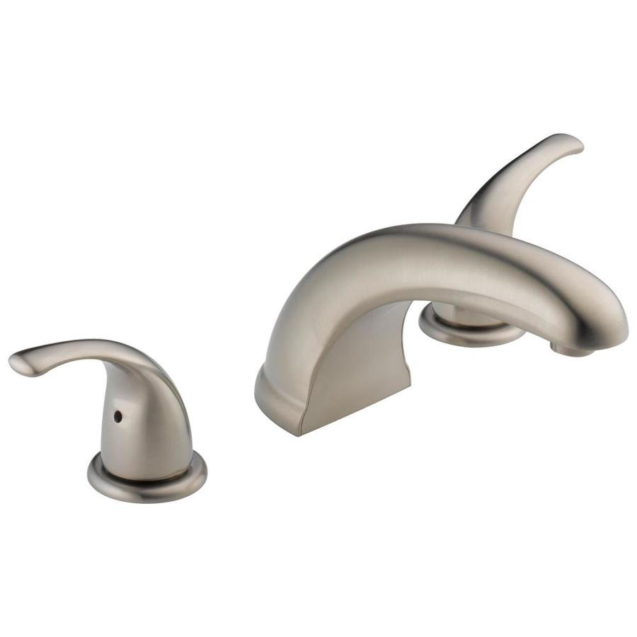 Shop Peerless Choice Brushed Nickel 2 Handle Deck Mount Bathtub Faucet At