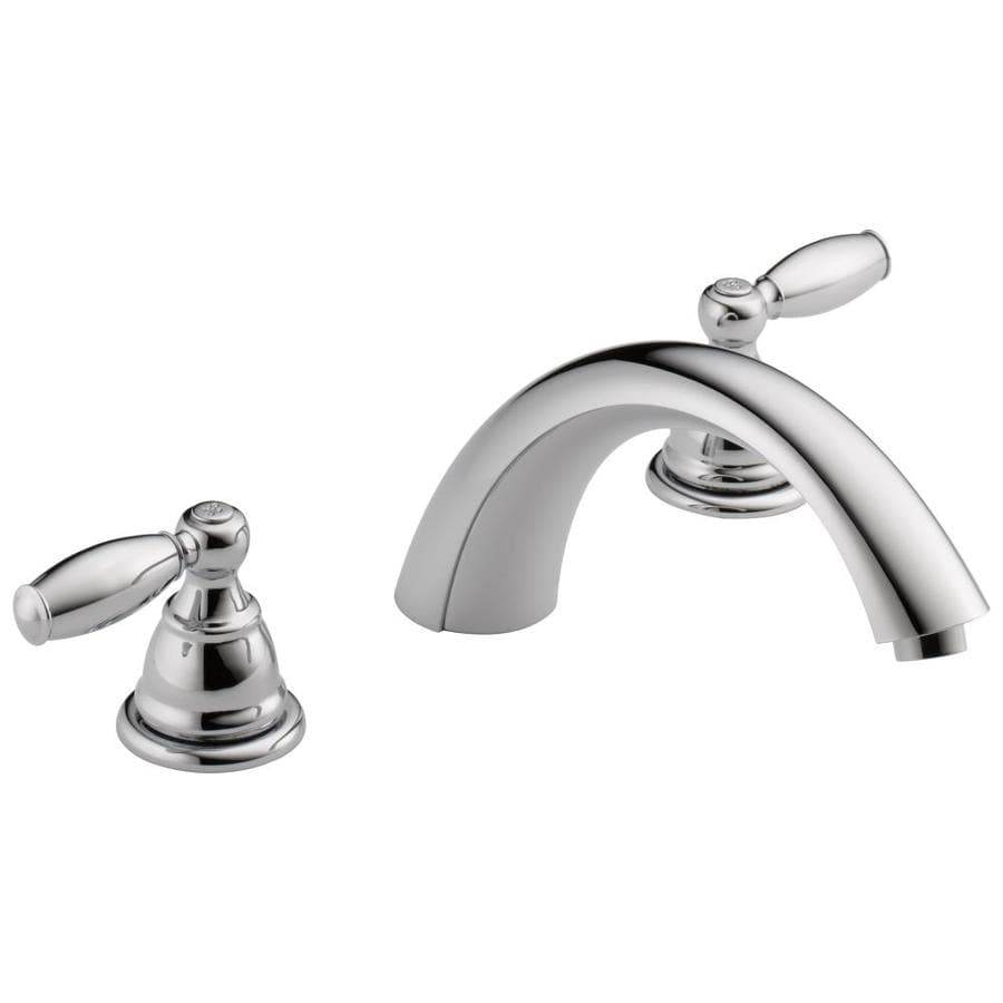 Peerless Apex Chrome 2-Handle Deck Mount Bathtub Faucet
