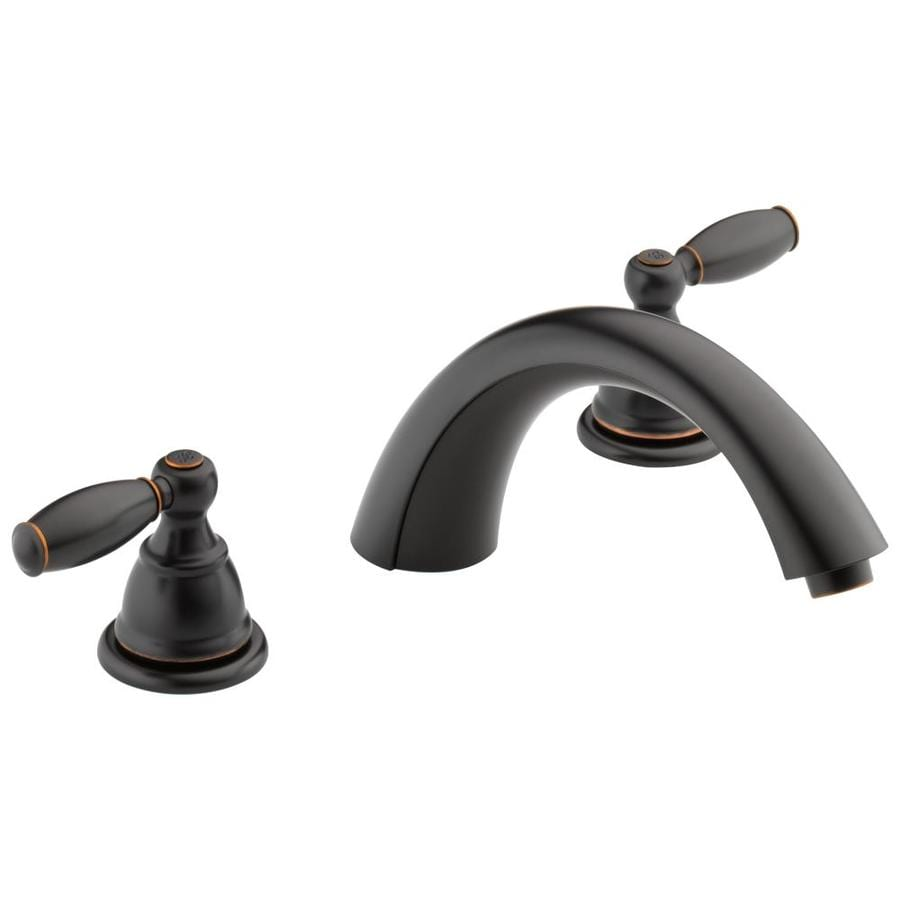Peerless Apex Oil Rubbed Bronze 2-Handle Deck Mount Bathtub Faucet