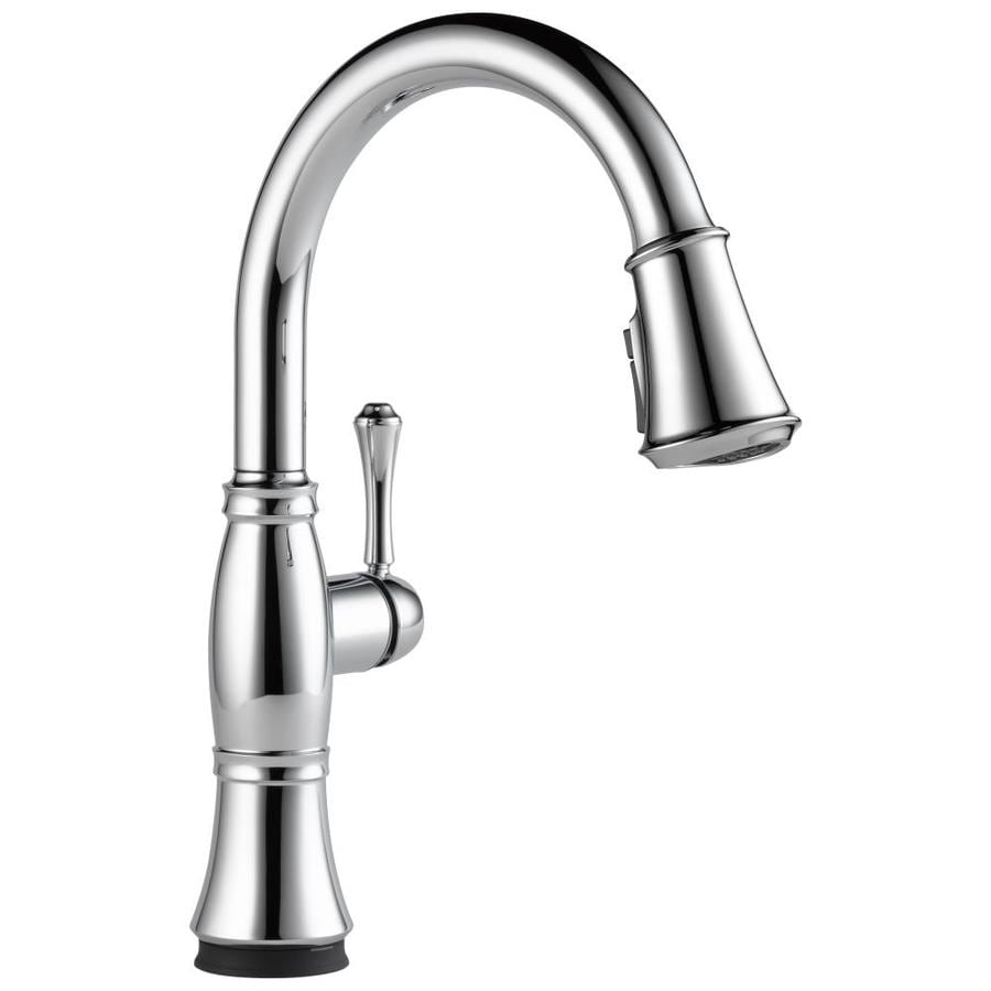 Delta Cassidy Touch2O Chrome 1-Handle Deck Mount Pull-Down Kitchen Faucet