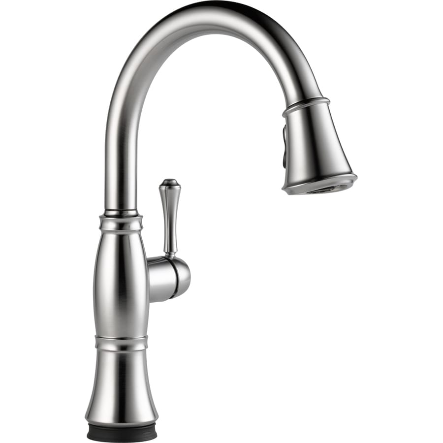 Delta Cassidy Touch2O Arctic Stainless 1-Handle Deck Mount Pull-Down Kitchen Faucet