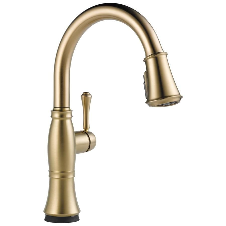 Delta Cassidy Touch2O Champagne Bronze 1-Handle Deck Mount Pull-Down Kitchen Faucet