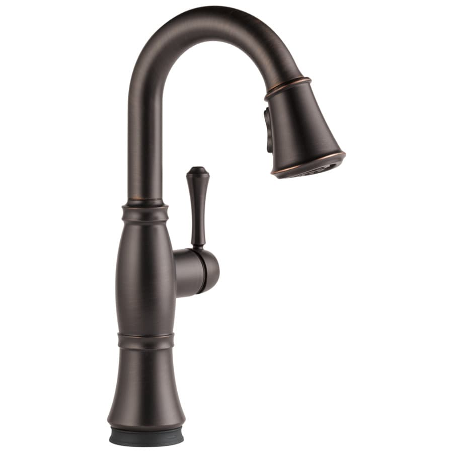 Delta Cassidy Touch Venetian Bronze 1-handle Deck Mount Pull-down Touch Bar And Prep Faucet