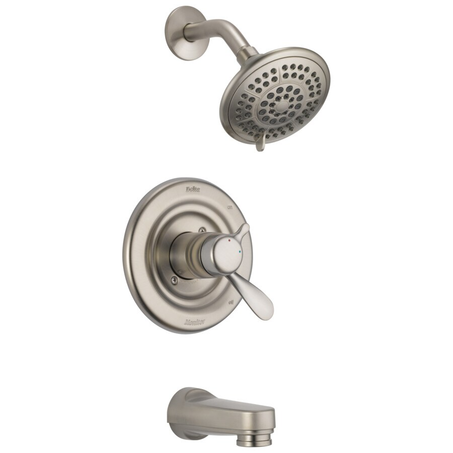 Delta Stainless 1-Handle WaterSense Bathtub and Shower Faucet Trim Kit with Single Function Showerhead