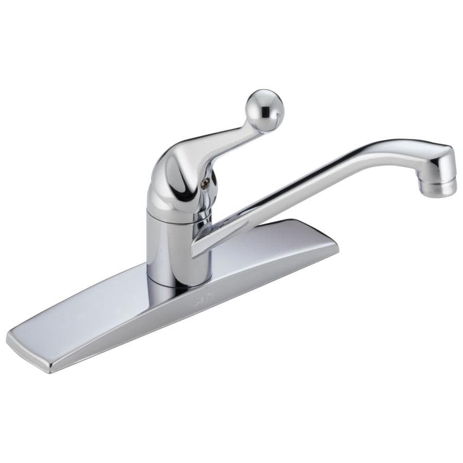shop delta classic chrome 1 handle low arc deck mount shop moen waterhill chrome 2 handle high arc kitchen