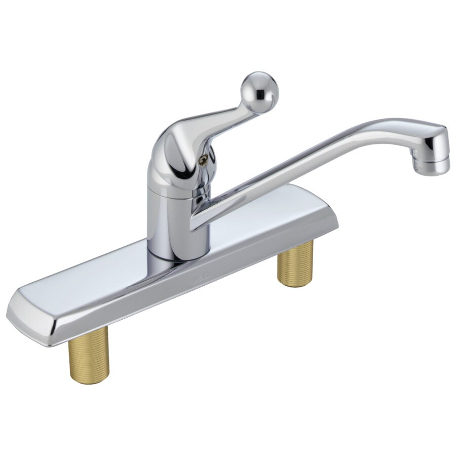 Shop Delta Classic Chrome Handle Lowarc Deck Mount Kitchen - Low arc kitchen faucet