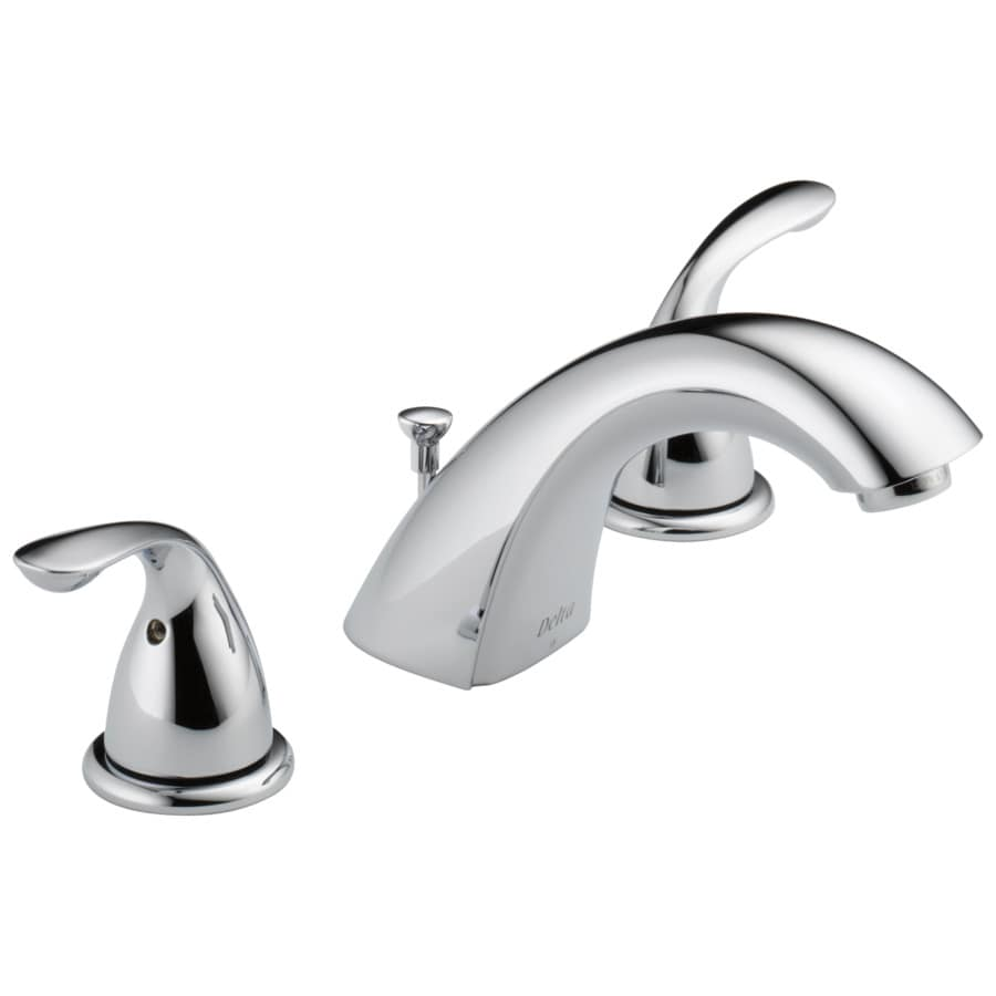 Delta Chrome 2-Handle 4-in Centerset WaterSense Bathroom Faucet (Drain Included)