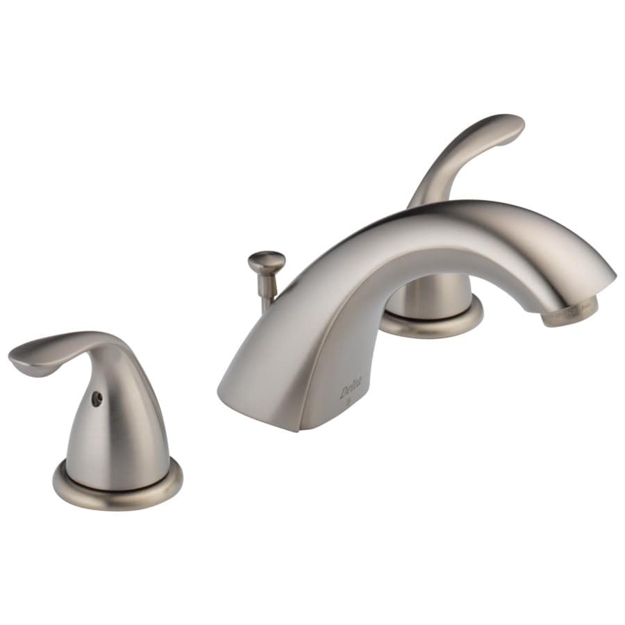 Delta Stainless 2-Handle 4-in Centerset WaterSense Bathroom Faucet (Drain Included)