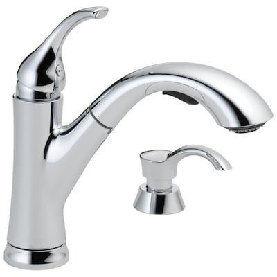 Kessler Chrome 1-handle Deck Mount Pull-out Kitchen Faucet
