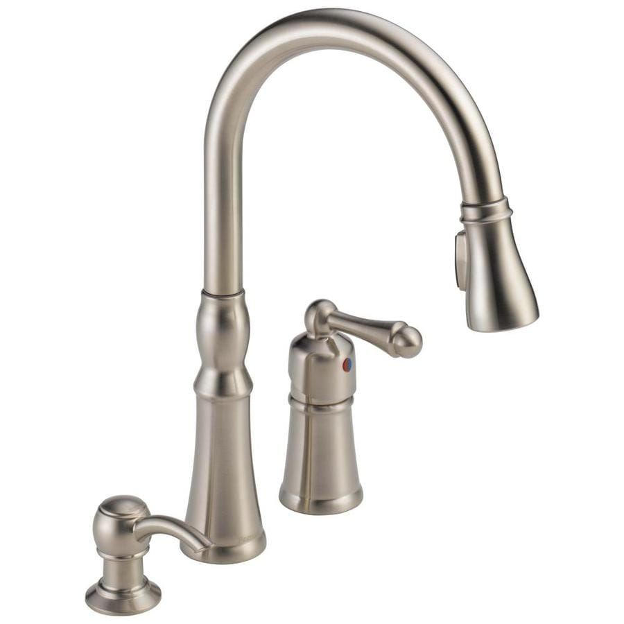 amazing Peerless Pull Down Kitchen Faucet #4: Peerless Decatur Stainless 1-Handle Pull-Down Kitchen Faucet