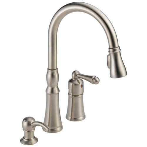 Peerless Decatur Stainless 1-handle Deck Mount Pull-down Kitchen Faucet at  Lowes.com