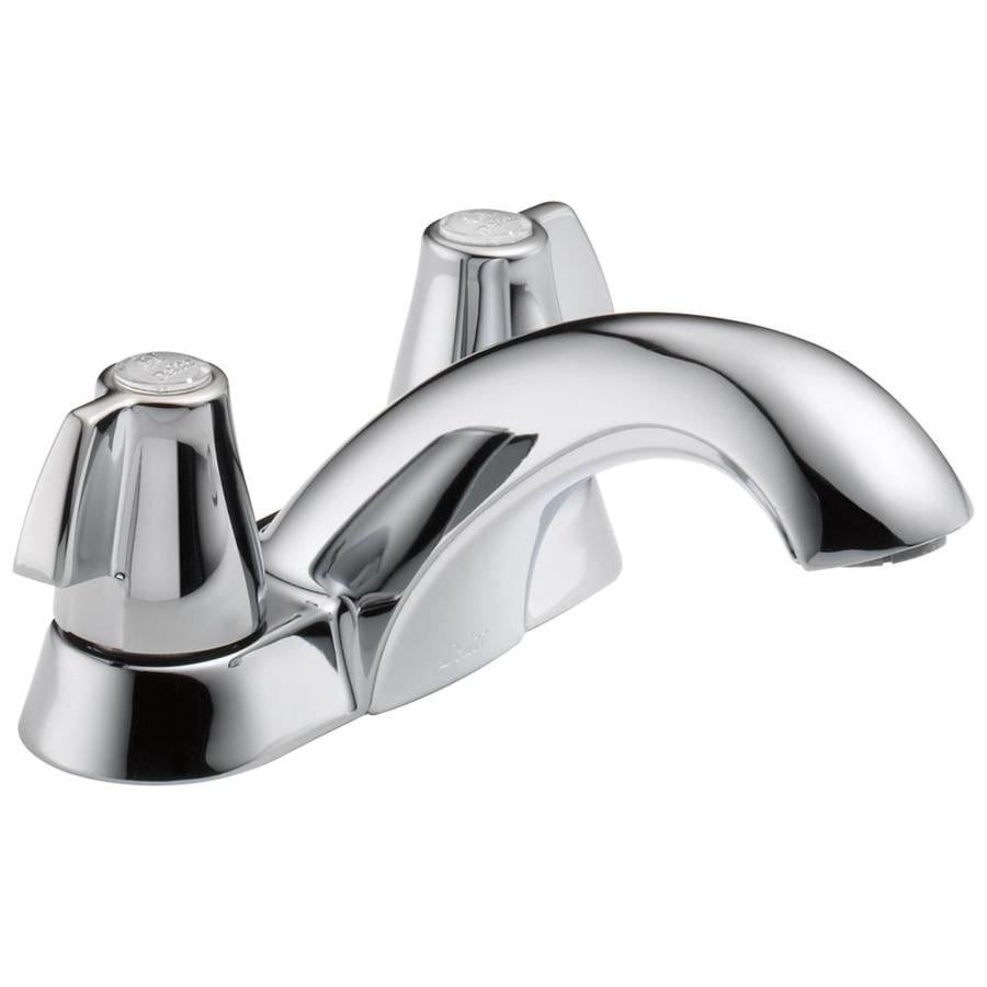 Delta Chrome 2-Handle 4-in Centerset Bathroom Sink Faucet