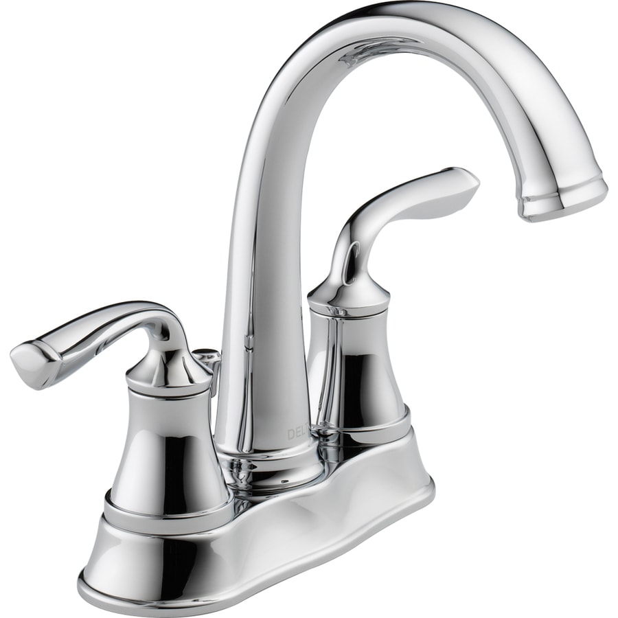 bathroom sink faucets at lowes shop delta lorain chrome 2 handle 4 in centerset 22332