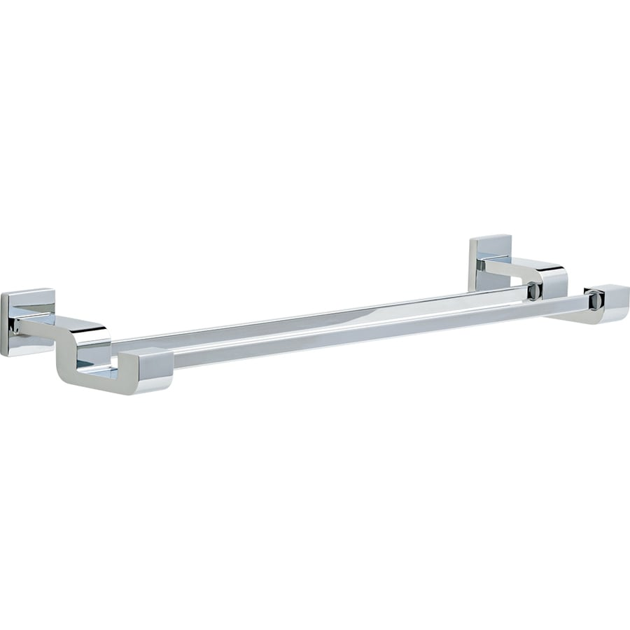 Delta Arzo Chrome Double Towel Bar (Common: 24-in; Actual: 26.296-in)