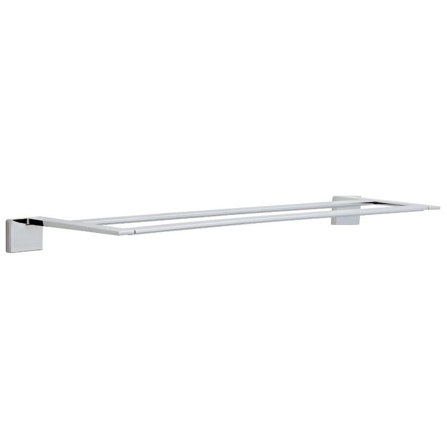 Delta Vero Chrome Double Towel Bar (Common: 24-in; Actual: 26.296-in)