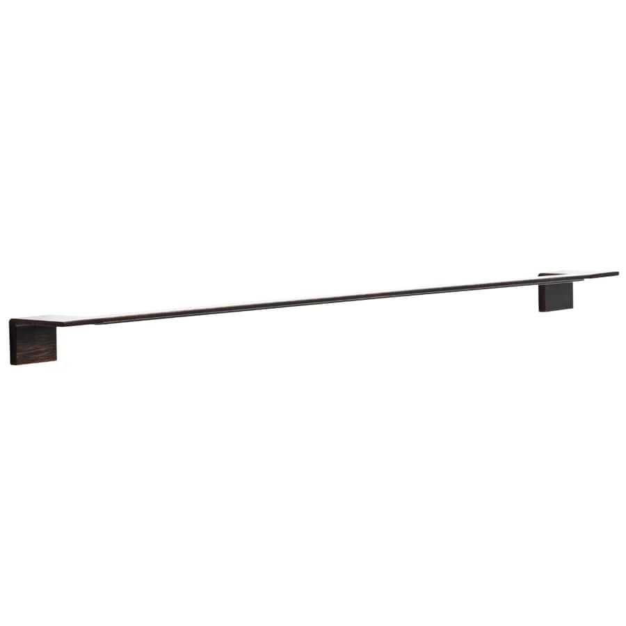 Delta Vero Venetian Bronze Single Towel Bar (Common: 30-in; Actual: 26-in)