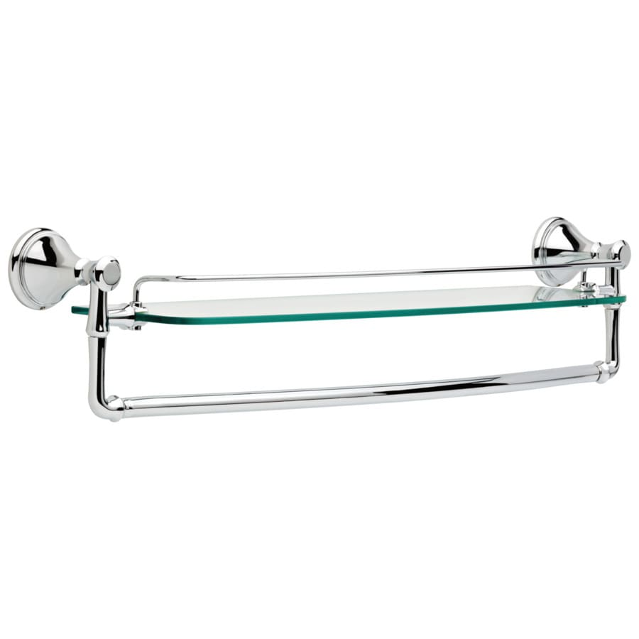 Delta Cassidy Chrome Single Towel Bar (Common: 24-in; Actual: 26.5-in)