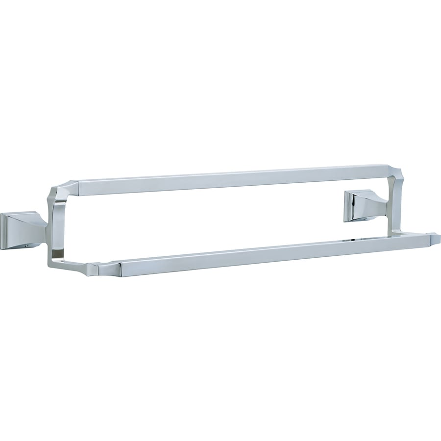 Delta Dryden Chrome Double Towel Bar (Common: 24-in; Actual: 26.156-in)