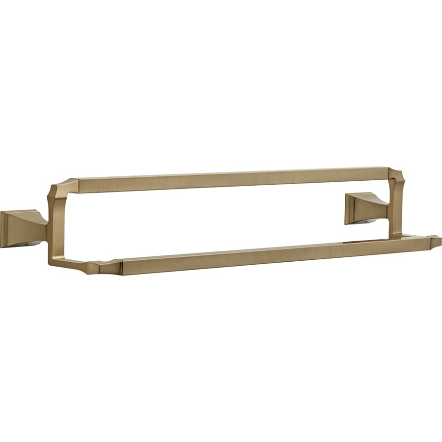 Delta Dryden Champagne Bronze Double Towel Bar (Common: 24-in; Actual: 26.156-in)