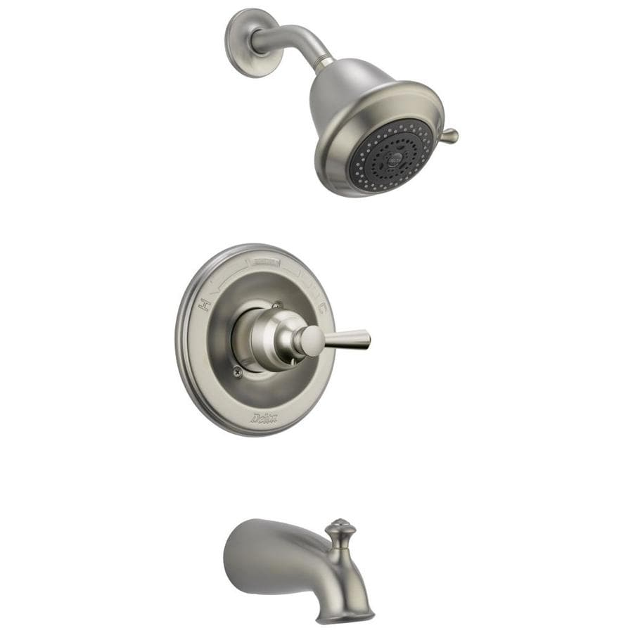 shower faucet trim kit with single function showerhead at