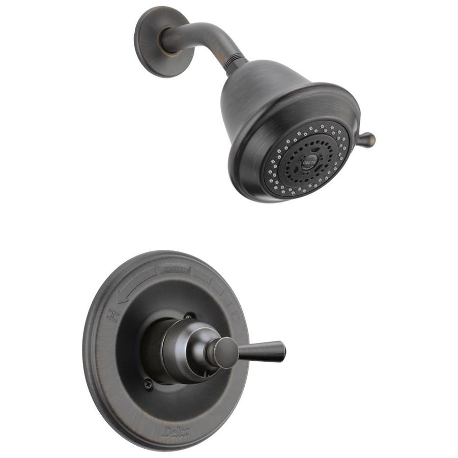 Delta Leland Venetian Bronze 1-Handle WaterSense Shower Faucet Trim Kit with Single Function Showerhead