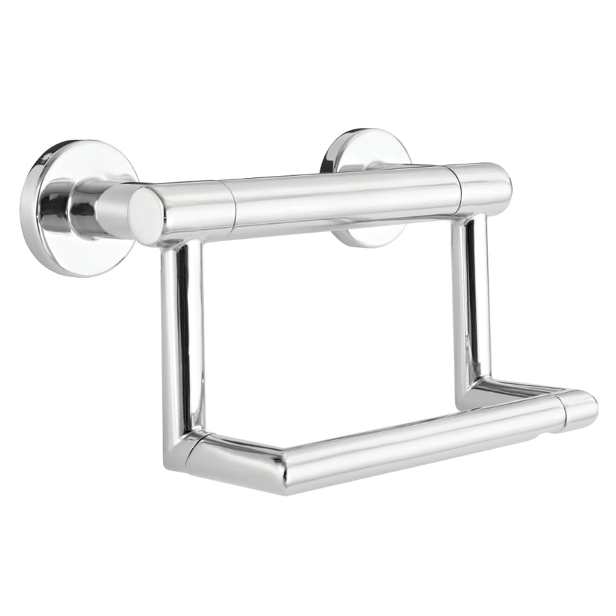 Shop DELTA Contemporary 5-in Polished Chrome Wall Mount Grab Bar ...